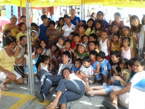 with streetchildren